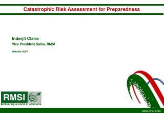 Catastrophic Risk Assessment for Preparedness