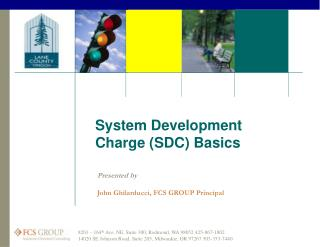 System Development Charge (SDC) Basics