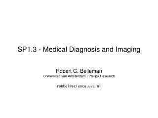 SP1.3 - Medical Diagnosis and Imaging