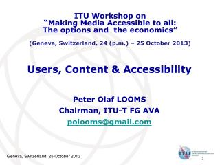 Users, Content & Accessibility