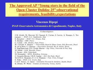 Vincenzo Ripepi   INAF-Osservatorio Astronomico di Capodimonte, Naples, Italy