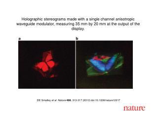 DE Smalley  et al. Nature 498 , 313-317 (2013)  doi:10.1038/nature12217