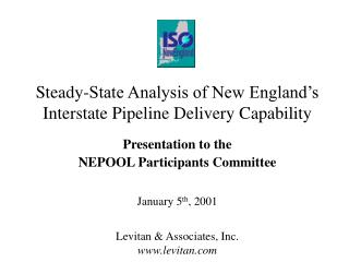 Steady-State Analysis of New England's Interstate Pipeline Delivery Capability