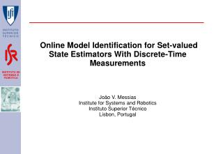 Online  Model Identification for  Set-valued   State Estimators With Discrete-Time Measurements