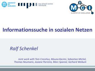 Informationssuche in sozialen Netzen