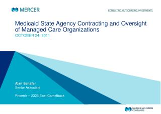 Medicaid State Agency Contracting and Oversight of Managed Care Organizations