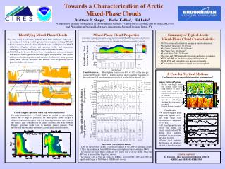 Towards a Characterization of Arctic  Mixed-Phase Clouds
