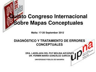 Q uinto Congreso Internacional Sobre Mapas Conceptuales