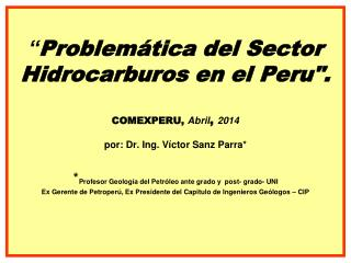 Gas y Petroleo en el Peru