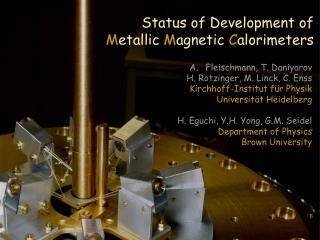 Metallic Magnetic Calorimeter