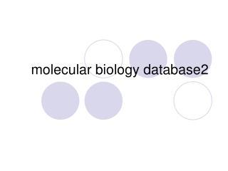 molecular biology database2
