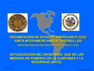 ACTUALIZACIÓN DEL INVENTARIO  2005 DE LAS MEDIDAS DE FOMENTO DE LA CONFIANZA Y LA SEGURIDAD (MFCS)