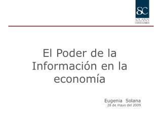 Eugenia  Solana 28 de mayo del 2009