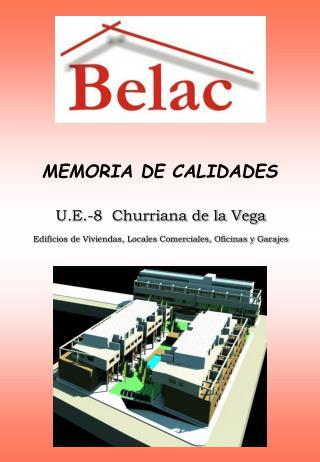 MEMORIA DE CALIDADES