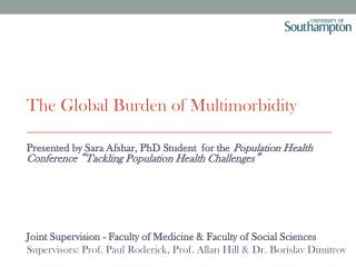 The Global Burden of Multimorbidity