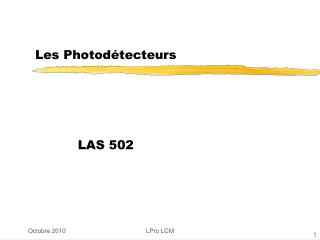 Les Photodétecteurs