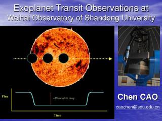 Exoplanet Transit Observations at  Weihai Observatory of Shandong University