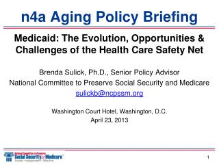 n4a Aging Policy Briefing