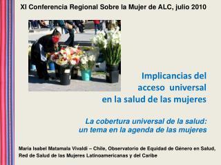 Maria Isabel Matamala Vivaldi – Chile, Observatorio de Equidad de Género en Salud,