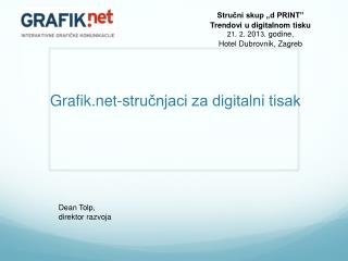 Grafik-stručnjaci za digitalni tisak