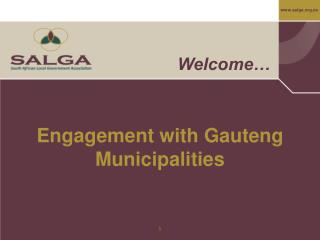 Engagement with Gauteng Municipalities
