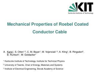 Mechanical Properties of  Roebel  Coated  Conductor Cable