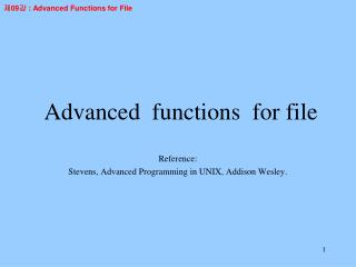 Advanced  functions  for file