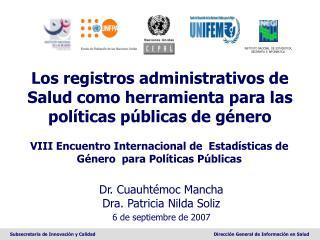 Los registros administrativos de Salud como herramienta para las políticas públicas de género