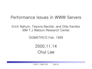 2000.11.14 Chul Lee