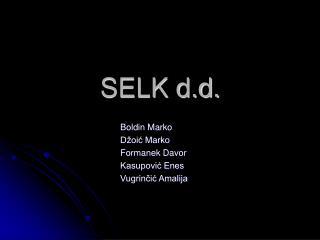 SELK d.d.