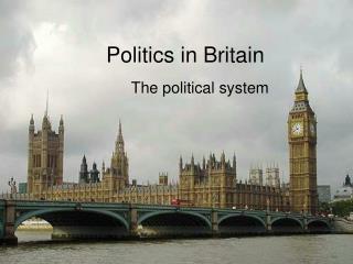 Politics in Britain
