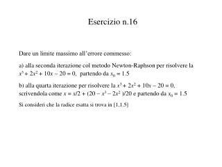 Esercizio n.16