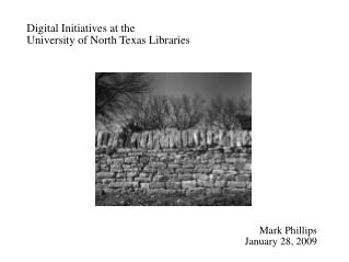 Digital Initiatives at the  University of North Texas Libraries