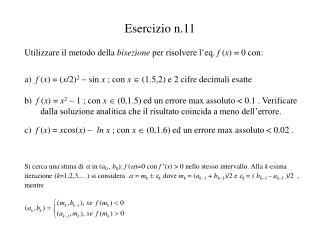 Esercizio n.11