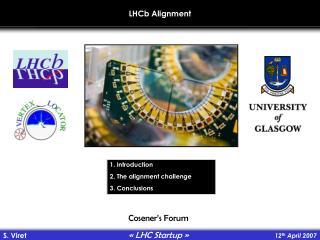 LHCb Alignment