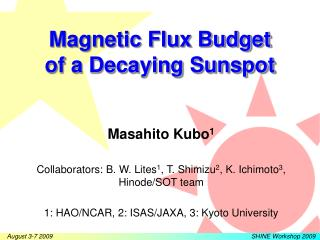 Magnetic Flux Budget  of a Decaying Sunspot