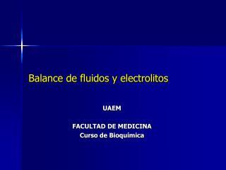 Balance de fluidos y electrolitos