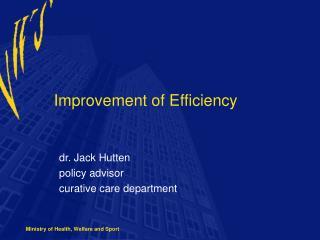 Improvement of Efficiency
