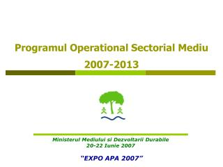 Programul Operational Sectorial Mediu 2007-2013