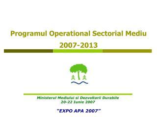 Programul Operational Sectorial Mediu 2007-2013