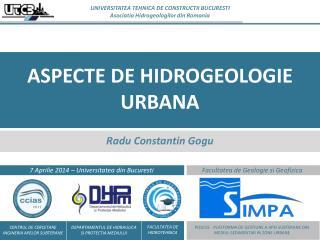 ASPECTE DE HIDROGEOLOGIE URBANA