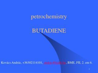 petrochemistry BUTADIENE