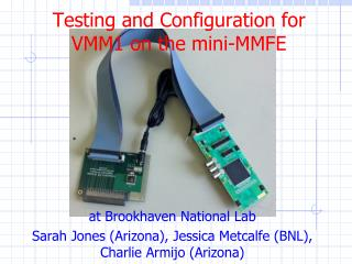 Testing and Configuration for VMM1 on the  mini-MMFE