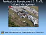 Professional Development In Traffic Incident Management