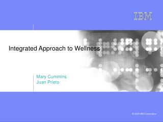 Integrated Approach to Wellness