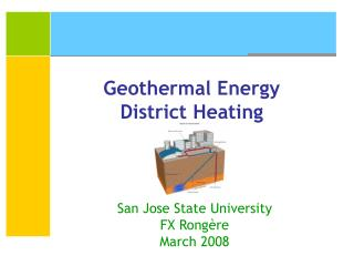 Geothermal Energy District Heating