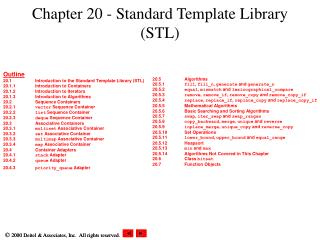Chapter 20 - Standard Template Library (STL)