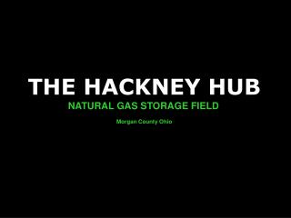 THE HACKNEY HUB NATURAL GAS STORAGE FIELD Morgan County Ohio