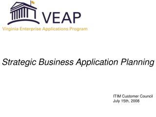 Strategic Business Application Planning
