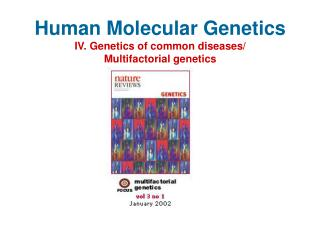 Human Molecular Genetics IV. Genetics of common diseases/ Multifactorial genetics